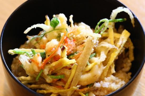 かき揚げ玄米丼 むそう塾 マクロビオティック料理教室