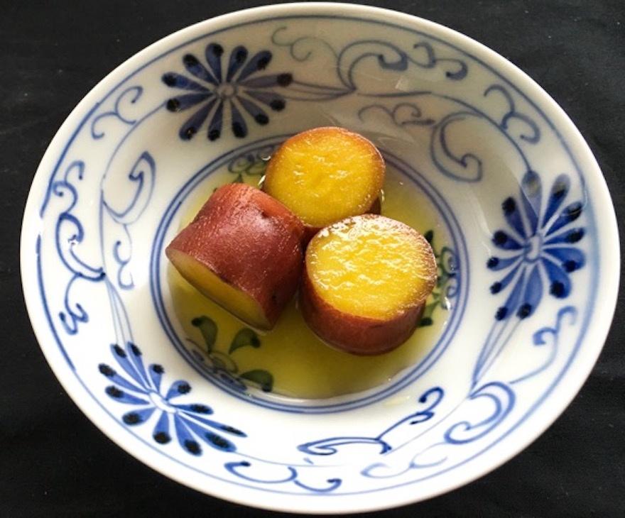 新さつまいもの蜜煮 マクロビオティック京料理教室 塾生作品