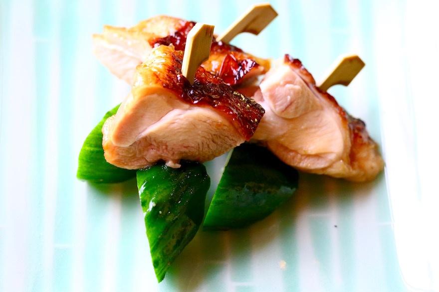 マクロビオティック京料理教室 むそう塾 地鶏のつけ焼きと胡瓜の小串