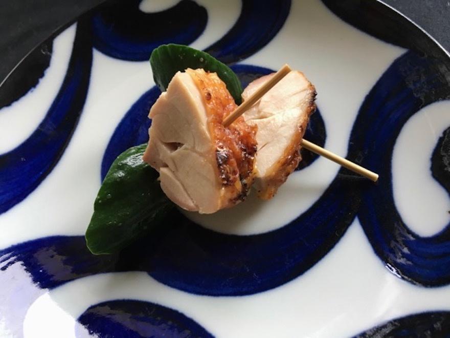 鶏と胡瓜の小串 マクロビオティック京料理教室 塾生作品