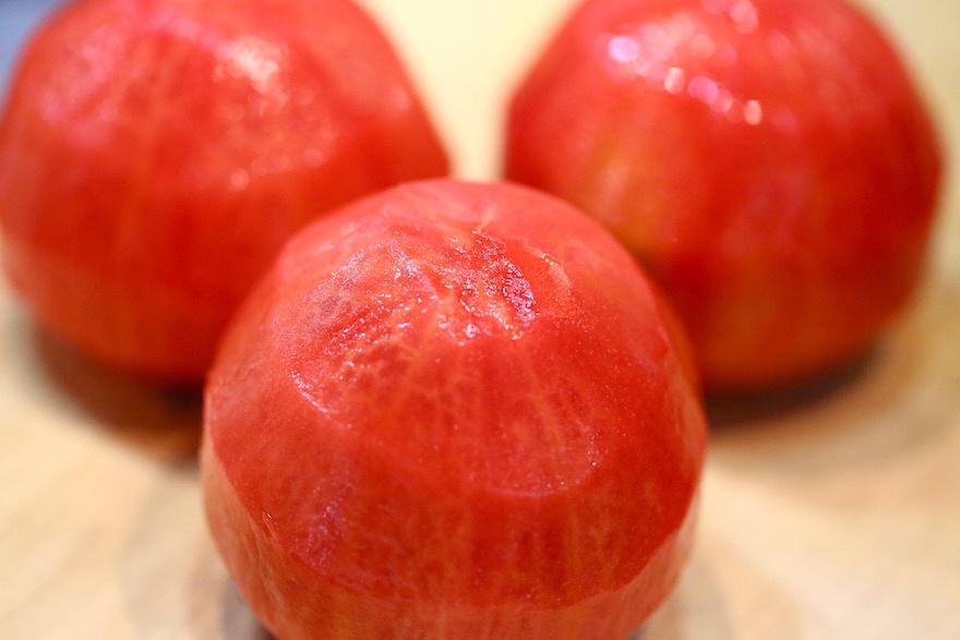 皮を剥いたトマト マクロビオティック京料理教室 むそう塾