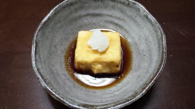 揚げ出し豆腐1