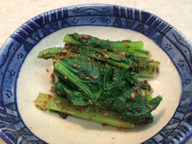 小松菜の胡麻和え