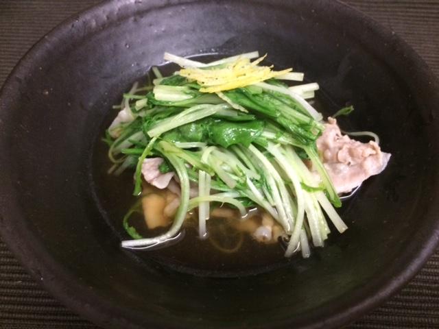 水菜と黒豚のはりはり煮