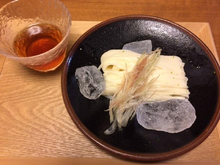 20160804稲庭饂飩とめんつゆ