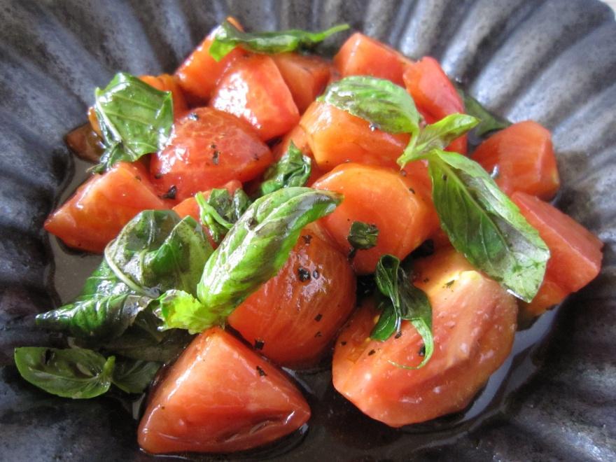 20160828 トマトのバルサミコ風味(夏の瞬速料理講座)