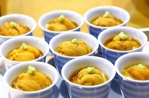 胡麻豆腐の雲丹載せ マクロビオティック京料理教室 むそう塾 のコピー